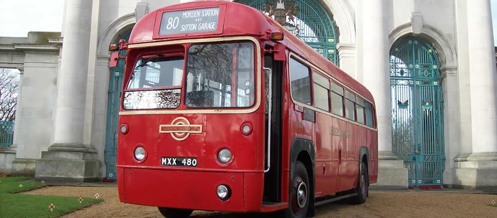 vintage vehicle london bus hire nottingham red bus. Black Bedroom Furniture Sets. Home Design Ideas
